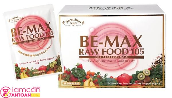Be-max Raw Food với thành phần chiết xuất từ 105 loại rau củ quả tươi rất tốt cho hệ tiêu hóa