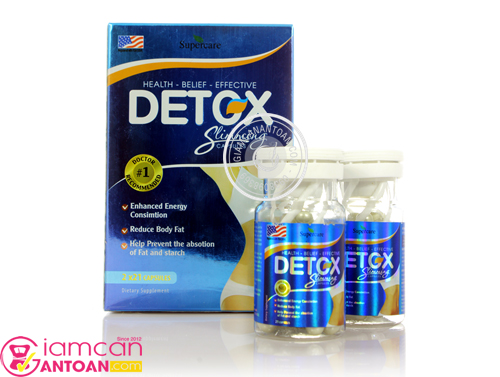 Viên giảm cân Detox Slimming Capsules USA giúp giảm cân nhanh