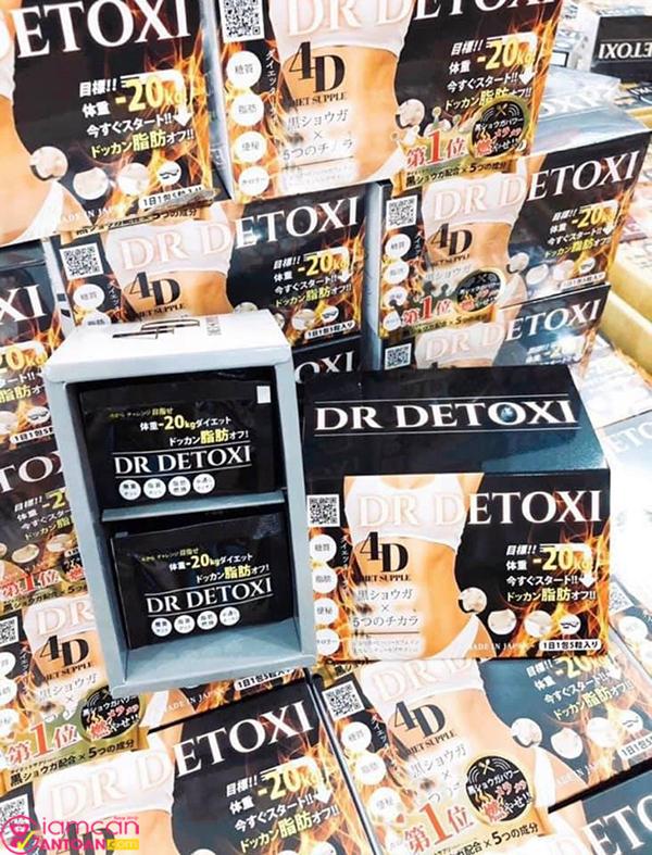 Dr Detoxi 4D chứa nhiều thành phần từ thảo dược thiên nhiên