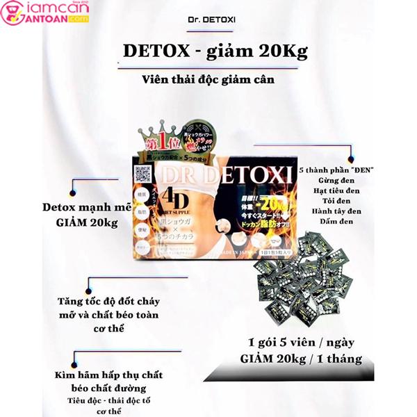 Dr Detoxi 4D phù hợp với nhiều đối tượng đang cần thanh lọc cơ thể và giảm béo