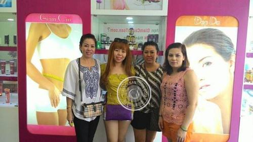 Chị Trinh, Chị Phúc - Khách hàng mua sản phẩm Collagen Slim USA và Rich Slim USA