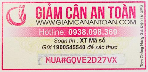 Mã xác thực trên tem chống giả điện tử SMS