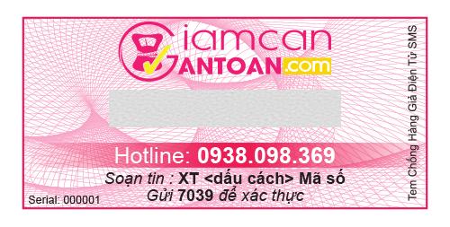 Tem chống giả điện tử SMS trên mỗi sản phẩm