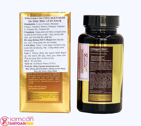cach su dung cua thuoc giam can Collagen Slim USA