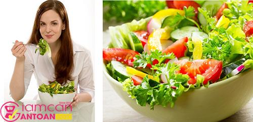 Salad là món ăn rất tốt cho hệ tiêu hóa