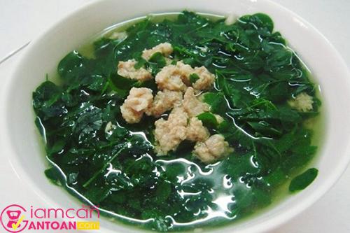 Món canh rau giúp bữa ăn trở nên lành mạnh