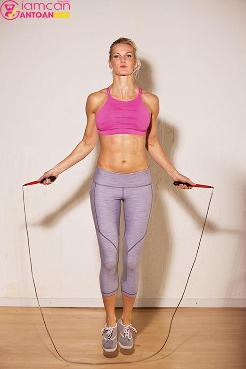 30 phút nhảy dây sẽ giúp cơ thể tiêu hao 450 calo