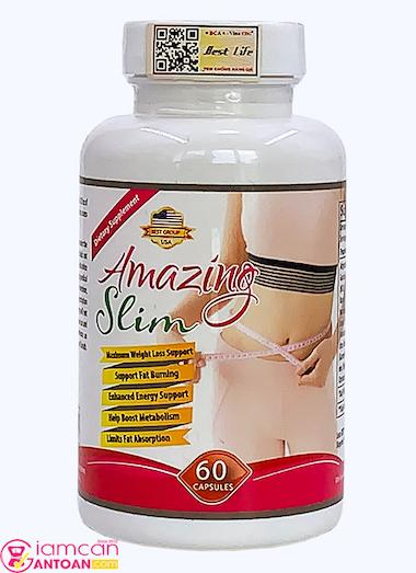 Viên giảm cân Amazing Body Slim bổ sung collagen làm đẹp da