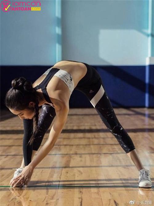 Trương Quân Ninh thích chạy bộ và tập yoga
