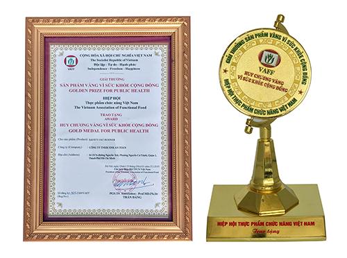 Safety FAT Burner của Giảm Cân An Toàn nhận giải thưởng Sản phẩm vàng vì sức khỏe cộng đồng