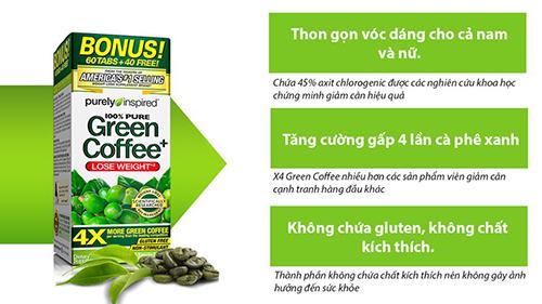 Viên Giảm Cân Chiết Xuất Hạt Cà Phê Xanh -100% Purely Inspired Green Coffee2