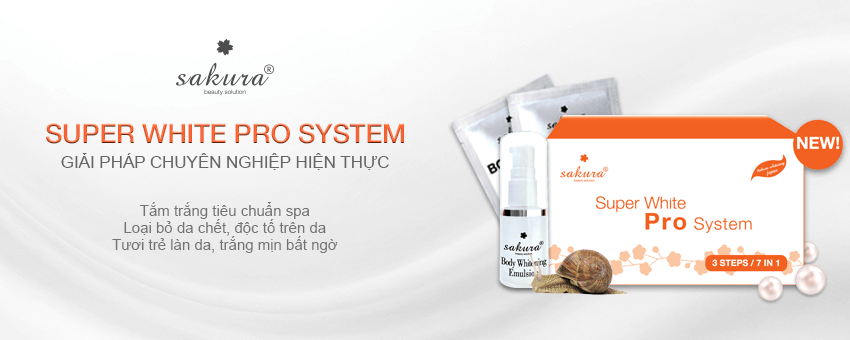 Bộ Kem Tắm Trắng Cao Cấp Sakura Super White Pro System2