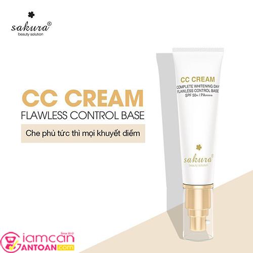 Kem Trang Điểm, Chống Nắng Sakura CC Cream Flawless Control Base SPF50+ PA++++2