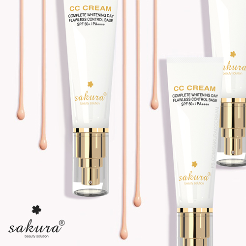 Kem Trang Điểm Chống Nắng Sakura CC Cream Tone Màu Fair4