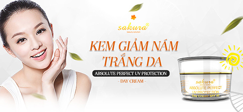 Kem Trị Nám Trắng Da Ban Ngày Sakura Absolute Perfect UV Protection Day Cream SPF 45.9