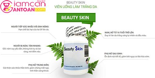 Viên Uống Trắng Da Chống Nắng Beauty Skin USA Mẫu Mới 2018.3