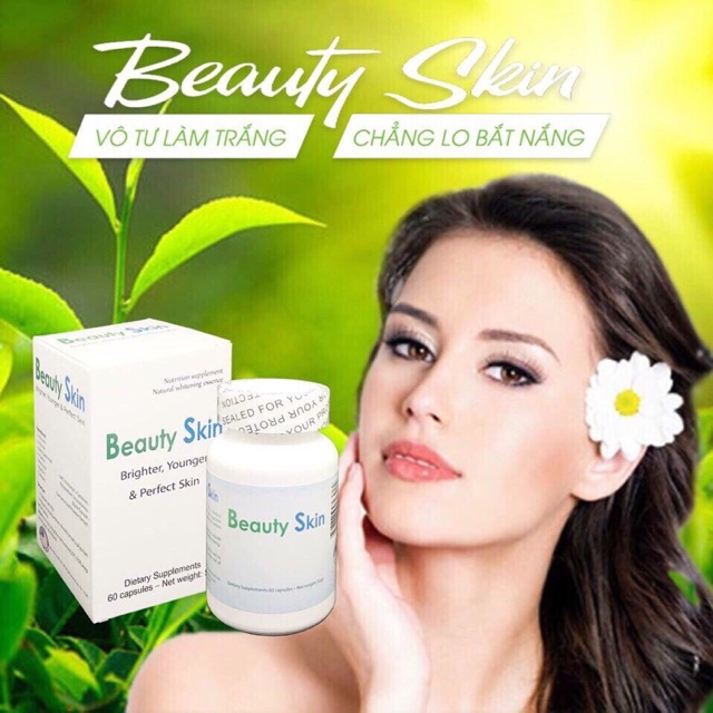Viên Uống Trắng Da Chống Nắng Beauty Skin USA Mẫu Mới 2018.6