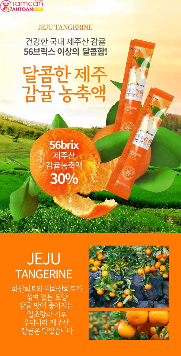 Bột Nước Ép Quýt Giảm Cân SangA được thị trường Hàn Quốc đón nhận