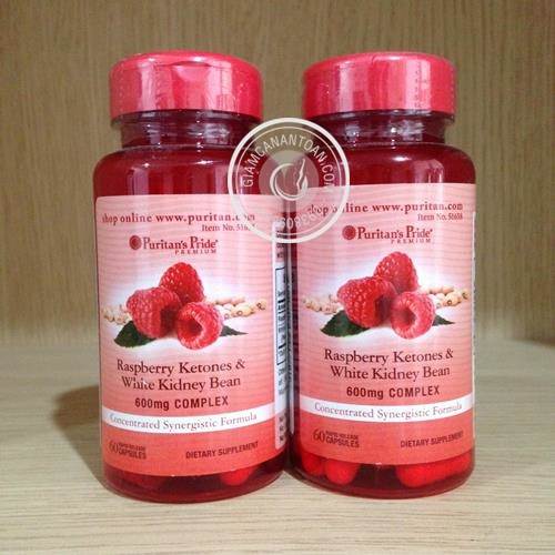 thuoc giam can Raspberry Ketones & White Kidney Bean