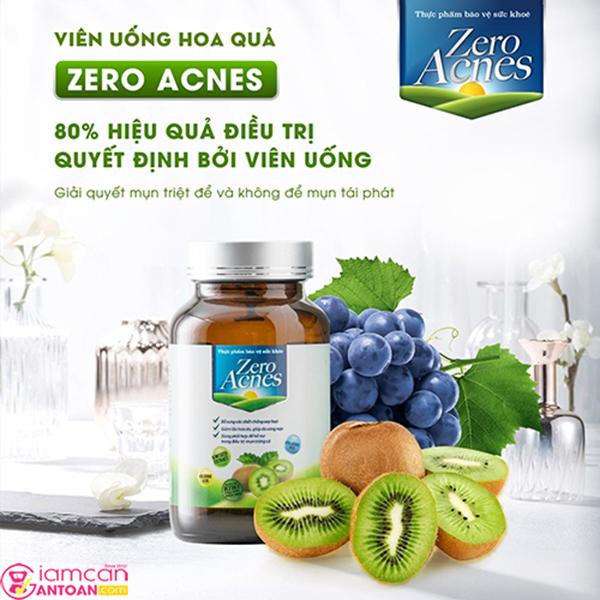 Zero Acnes là viên uống chiết xuất từ hoa quả giúp người dùng thải độc cơ thể
