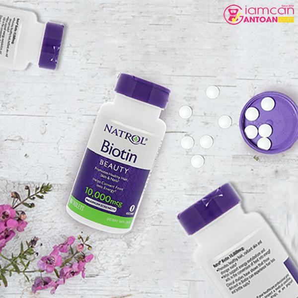 Biotin 10.000mg Mỹ có tác dụng tích cực với hệ thần kinh và tiêu hóa.