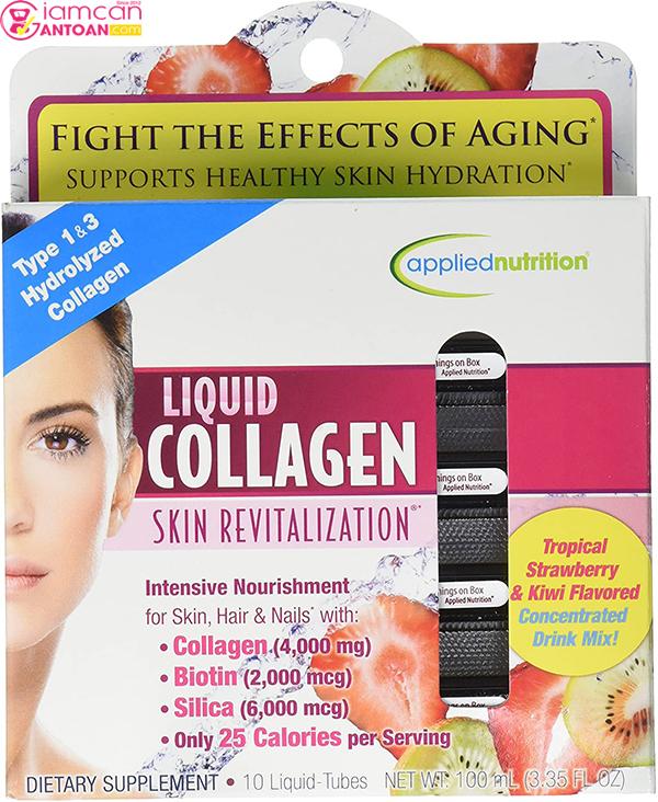 Collagen Liquid Drink Mix 4000 Mg giúp hỗ trợ cho làn da của bạn được hồi sinh