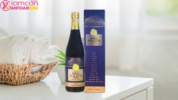Uống nước Royal Placenta 720ml chứa nhiều dưỡng chất tốt cho da