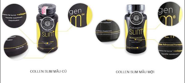 cách phân biệt mẫu mới cũ Collagen Slim