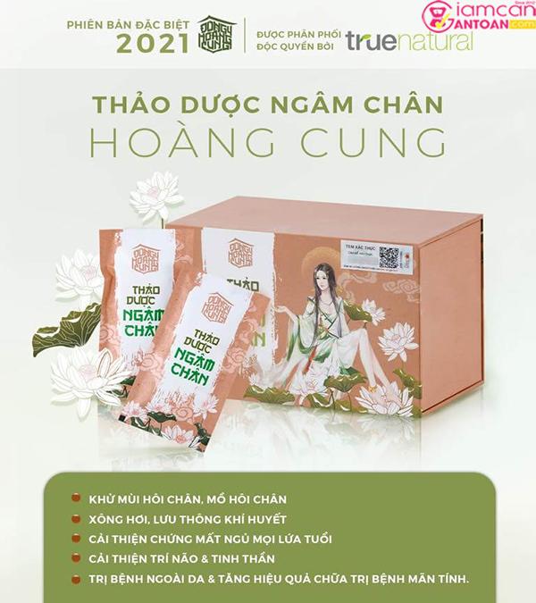 Thảo dược ngâm chân Hoàng Cung có công thức trị liệu từ 16 loại thảo dược quý hiếm