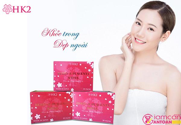 HK2 Berry & Placenta White Nhật Bản được chiết xuất từ những nguyên liệu quý giá