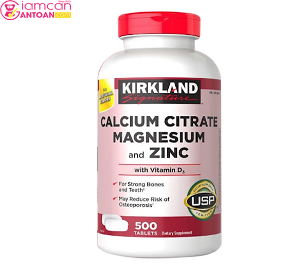 Calcium Citrate Magnesium and Zinc rất tốt cho xương khớp