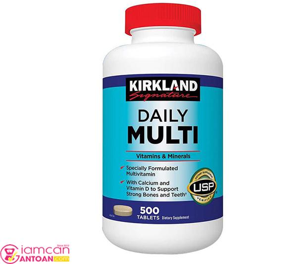 Kirkland Daily Multi bổ sung nhiều Vitamins thiết yếu cho cơ thể