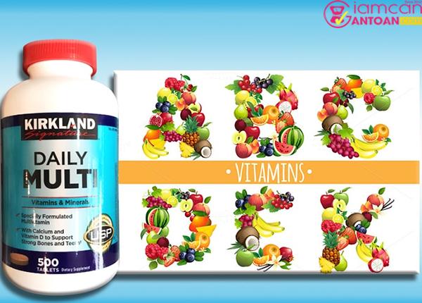 Daily Multi Kirkland được sản xuất dựa trên công thức khoa học đặc biệt