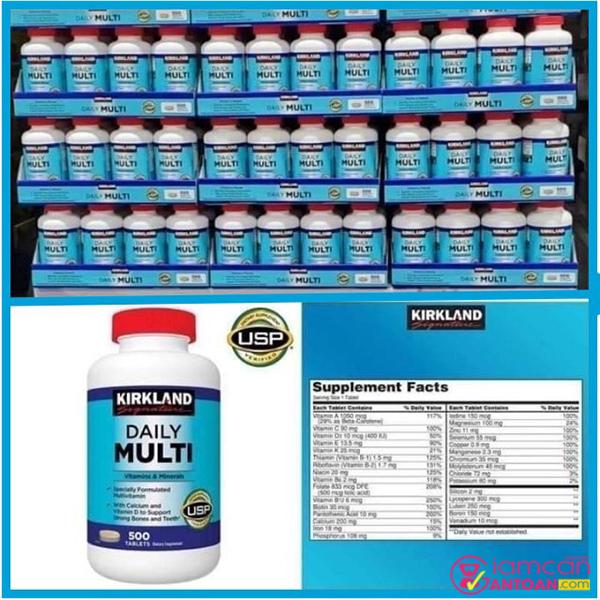Hiện Kirkland Daily Multi Vitamins đang được giamcanantoan.com phân phối sỉ và lẻ