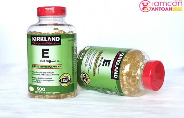Kirkland Vitamin E 400 IU giúp bổ sung vintamin cho da