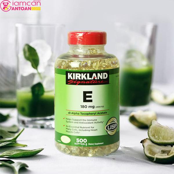 Kirkland Signature Vitamin E 400 IU chứa hàm lượng vitamin cao có tác dụng ưu việt
