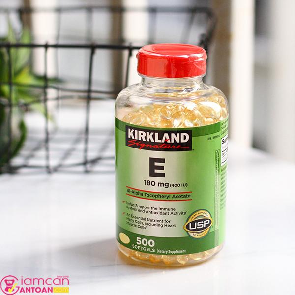 Kirkland Signature Vitamin E 400 IU giảm tình trạng mụn, vết thâm, tàn nhan…