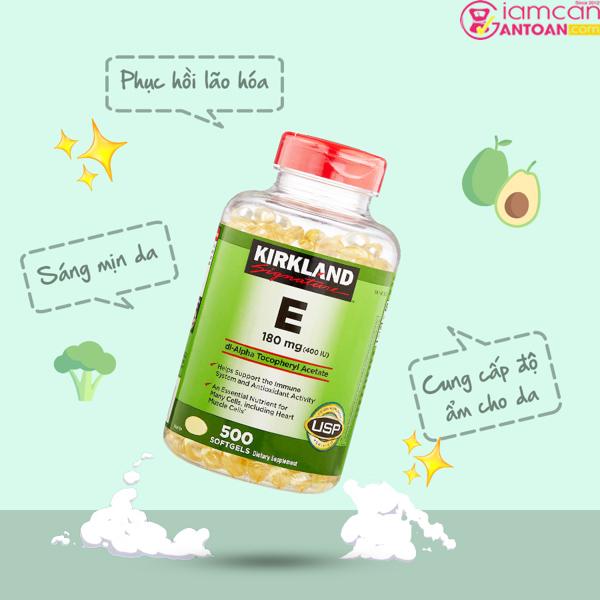 Kirkland Signature Vitamin E 400 IU đang được nhiều chị em rất tin dùng