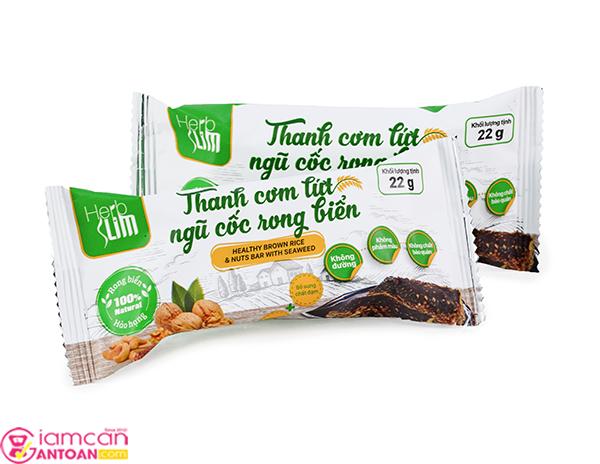 Thanh cơm lứt ngũ cốc Herbslim được chiết xuất từ gạo lức tinh khiết