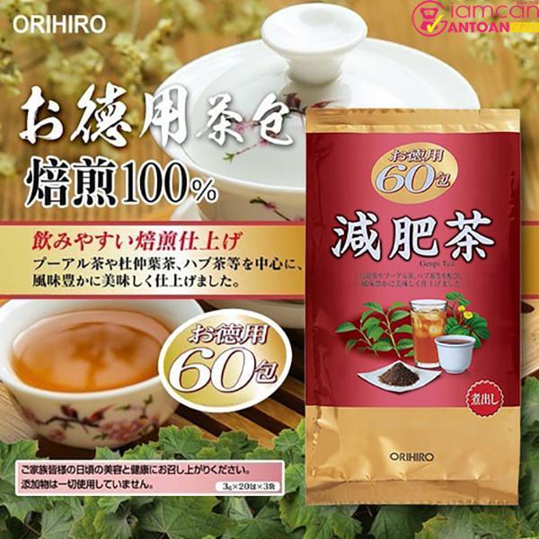 Trà giảm béo bụng Meta Shot ORIHIRO dùng nóng sẽ tốt hơn