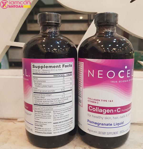 Nước Neocell Collagen+C Pomegranate Liquid được chiết xuất từ trái cây ở dạng nước