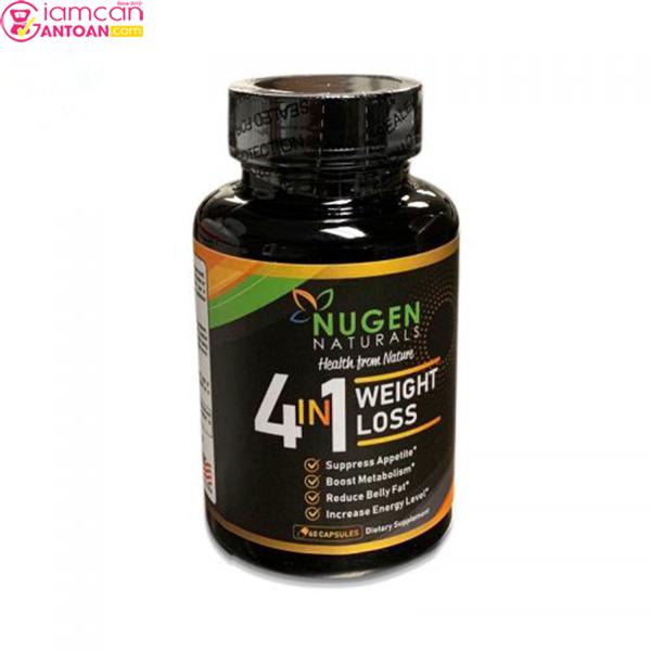 Nugen Naturals Weight Loss 4 trong 1 với bốn công dụng giảm cân đặc trưng