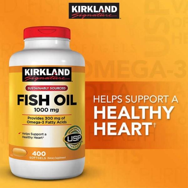 Kirkland Omega-3 được điều chế từ các loại cá đến từ những vùng biển sâu dưới đại dương