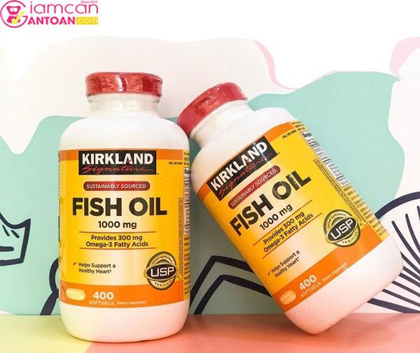 Omega 3 Fish Oil Kirkland làm giảm lượng cholesterol trong máu