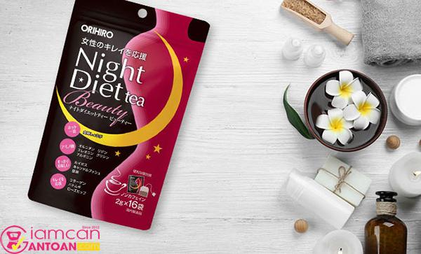 Trà Giảm Cân Ban Đêm Orihiro Night Diet Tea Beauty giúp giảm cân ngay cả lúc ngủ
