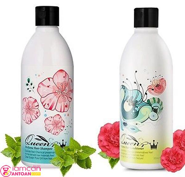 Bộ Đôi Dầu Gội & Dầu Dưỡng Queen Perfume thích ứng với mọi loại da đầu