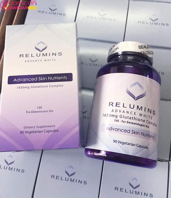 Relumins Advance White 1650mg giúp trắng da hiệu quả