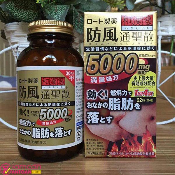 Viên giảm cân Rohto 5000mg giúp nhanh chóng làm tan mỡ bụng