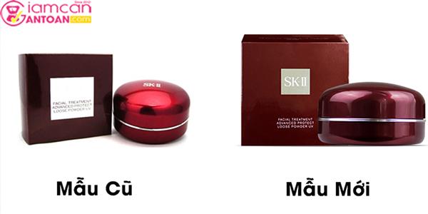 Dòng sản phẩm phấn phủ SK-II phiên bản mới và cũ