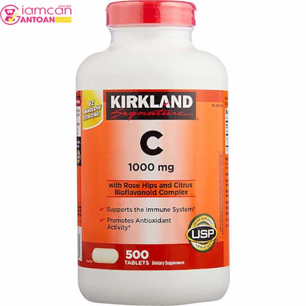 Vitamin C 1000mg Kirkland hỗ trợ tăng cường hệ thống miễn dịch cho cơ thể
